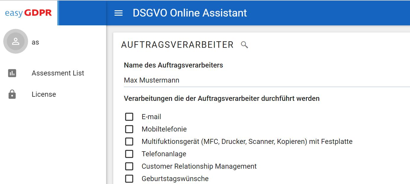 DSGVO Auftragsdatenverarbeiter