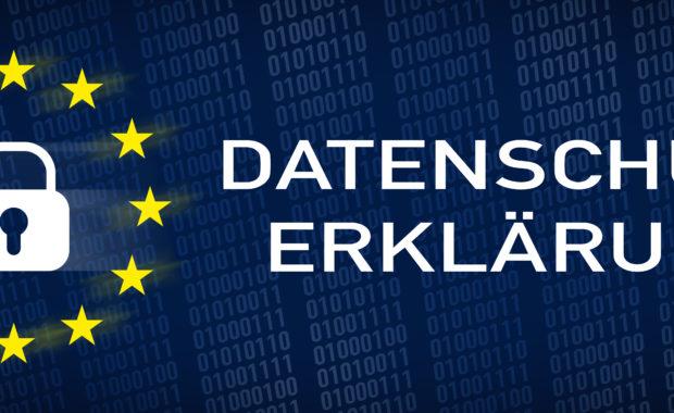 Banner zur EU Datenschutzerklärung